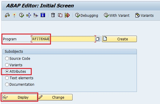 Find the ABAP Program type from Attributes of transaction se38