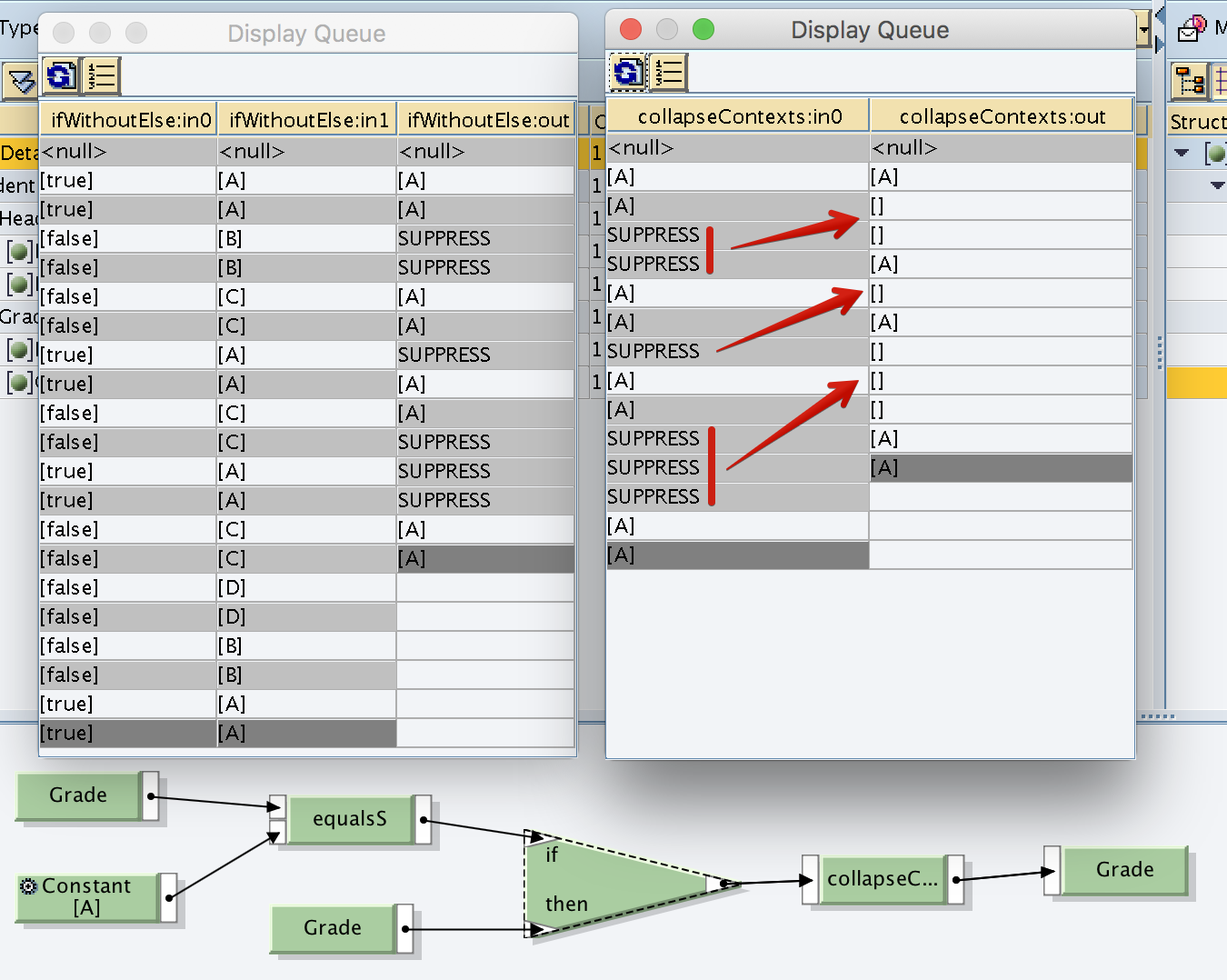 Collapse Context copy SUPPRESS values as null [] values to output.