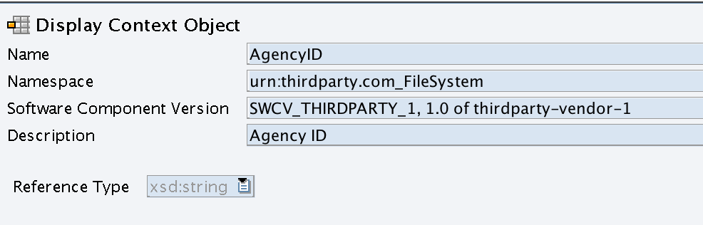 Create Context Object with Reference Type xsd:String