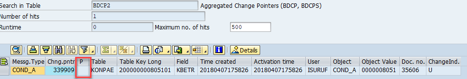 change pointers are flagged in table BDCP2. Ready to create iDocs BDCP, BDCPS