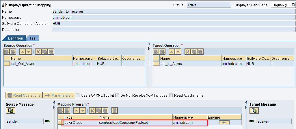 find Java Mapping attached to Operation Mapping