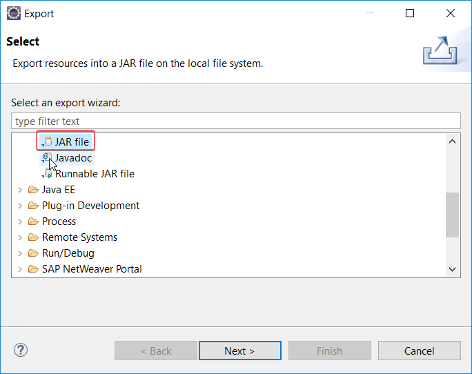 Export edited Java Mapping as .jar