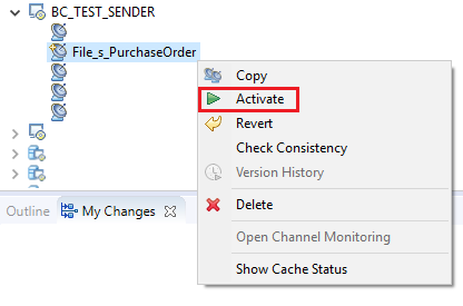 Save and Activate Communication Channel in NWDS iFlow