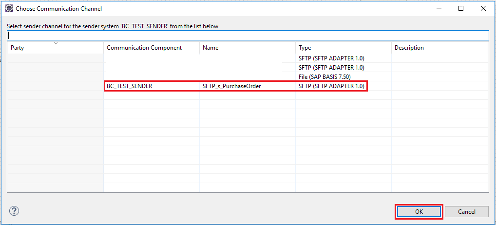 Select Communication Channel from drop down list