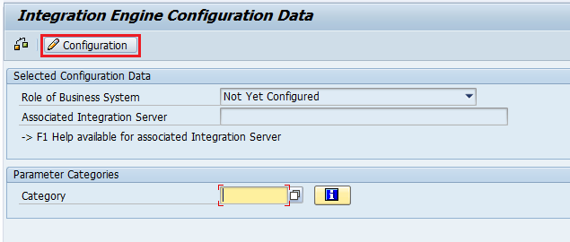 Choose 'Configuration' option. on next screen of the Integration Engine Configuration of SXMB_ADM