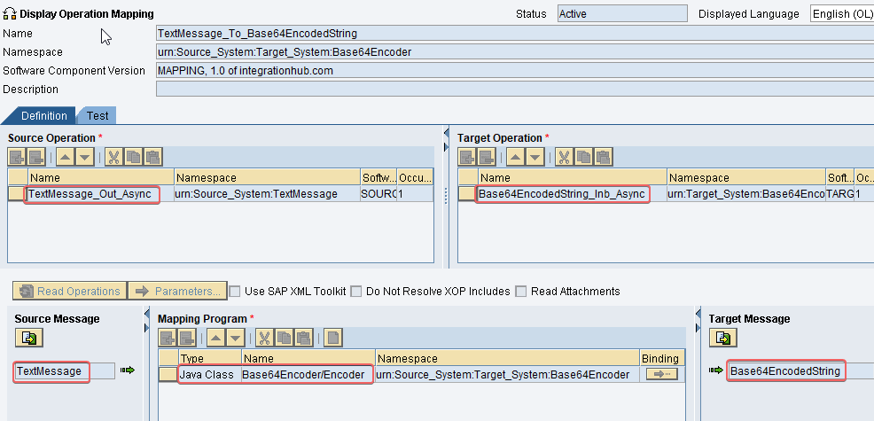 Operation Mapping with imported archive java class for base64 encoding sap pi po