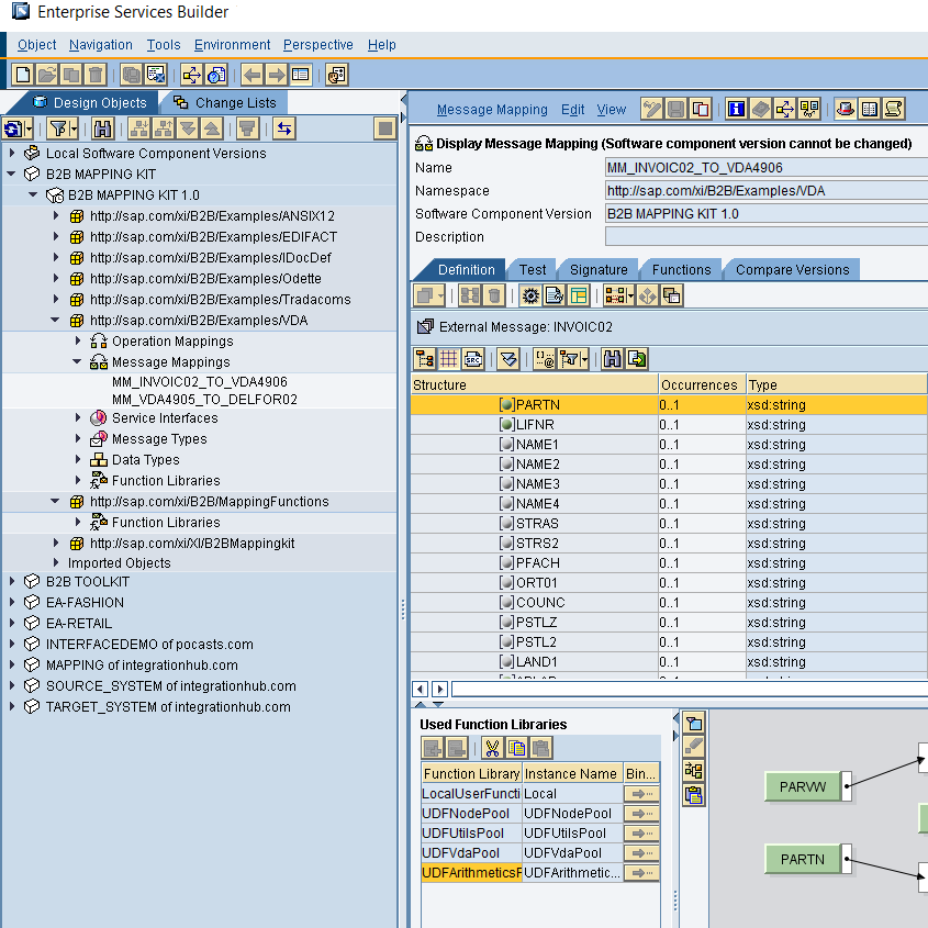 Swing client for ESR object development in SAP XI, PI and PO