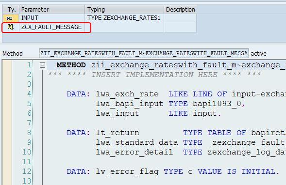 Proxy class with zcx_fault_messages exception class in transaction se24