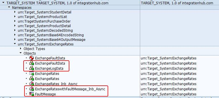 Inbound Service Interface and Proxy class in SPROXY Transaction in SAP back-end system with Fault message types