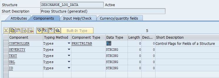FaultLogData Message Type as a DDIC structure in SAP back-end system