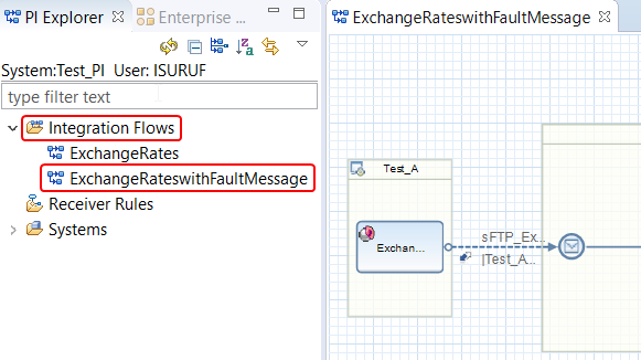 iFlow navigation menu in NWDS and how to find the service interface of a ABAP proxy interface.