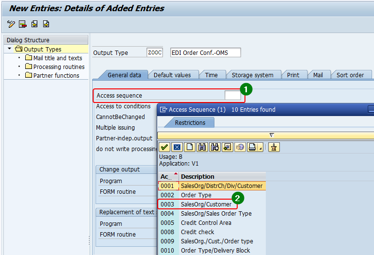 Standard Access Sequence 0003 of SAP under application area Sales (SD).