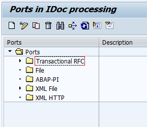 Different iDoc processing ports in SAP. tRFC, File, ABAP-PI, XML File and XML HTTP