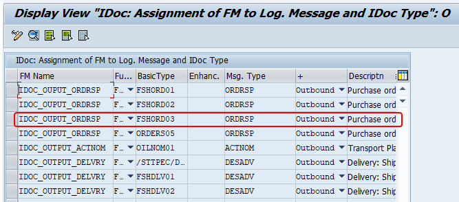 identify the FM that generates output docs via transaction we42. FM is assigned to a iDoc Message Type and Basic type