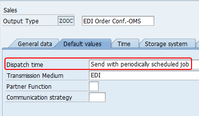 """Change the dispatch time of the output to """"Send with Periodically Scheduled Job"""""""